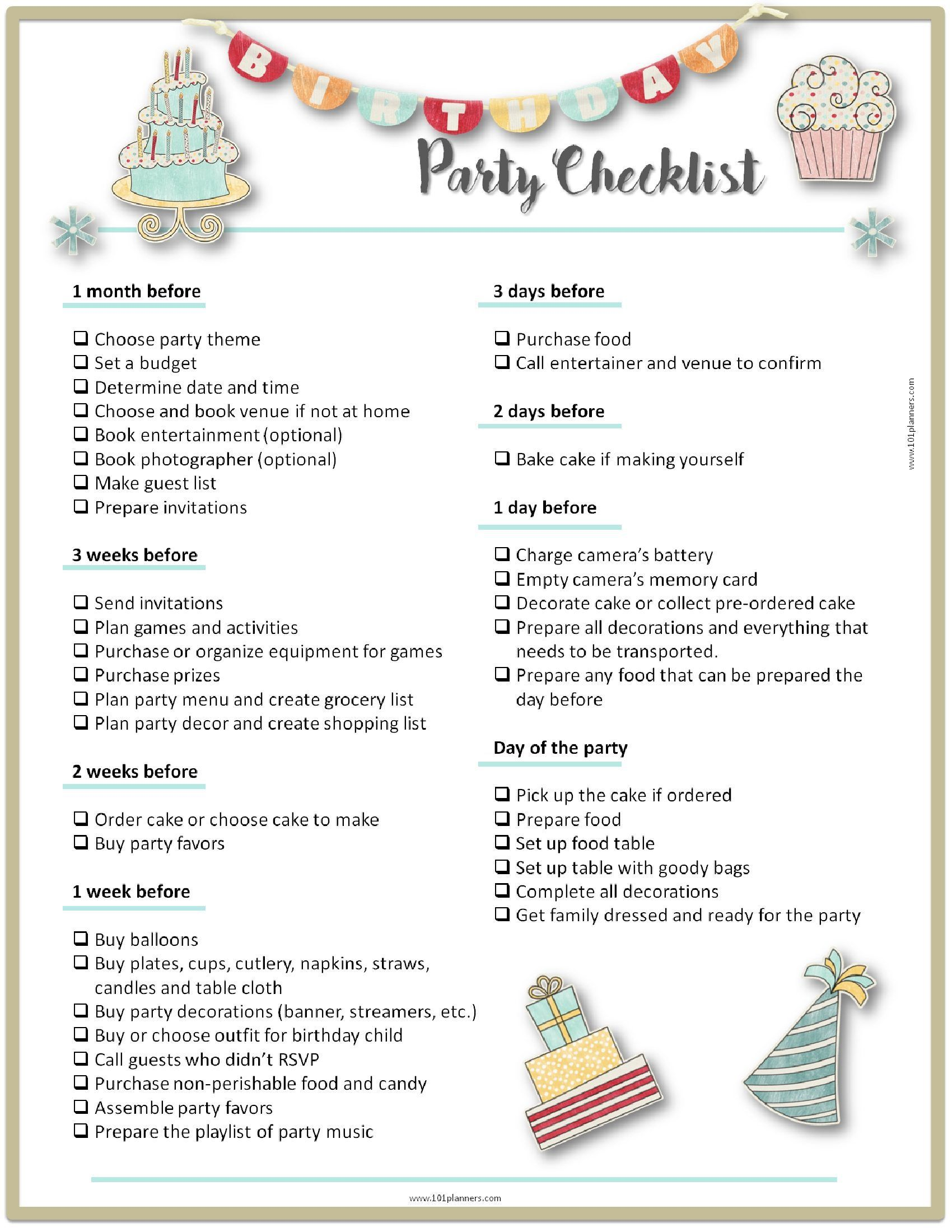 000 Exceptional Party Plan Checklist Template Example  Planning Free Graduation BirthdayFull