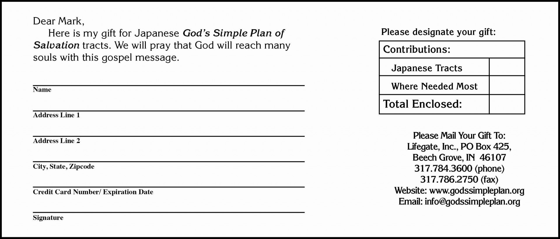 000 Exceptional Printable Donation Form Template Highest Quality  Blank Receipt1920