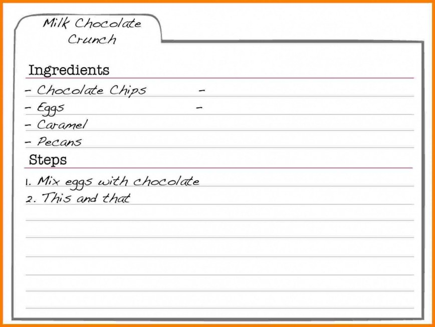 Microsoft Word Recipe Card Template from www.addictionary.org