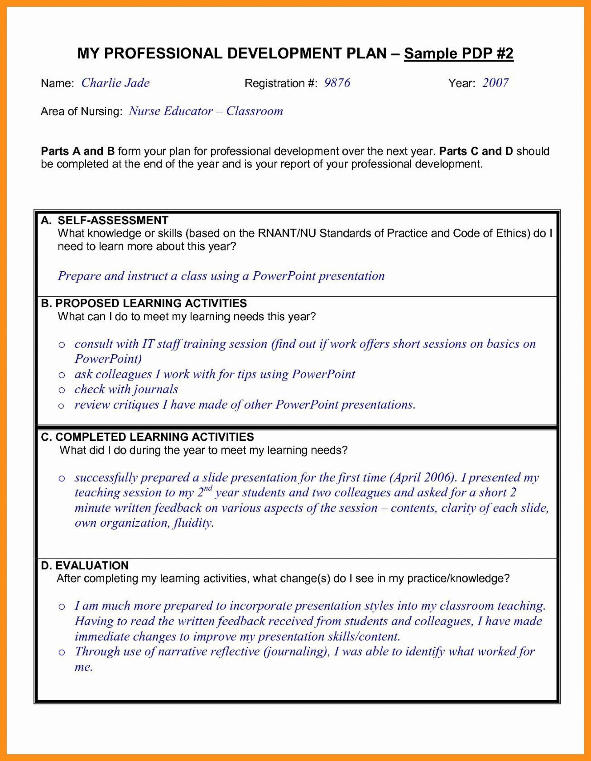 000 Exceptional Professional Development Plan For Teacher Template Doc High Resolution 1920