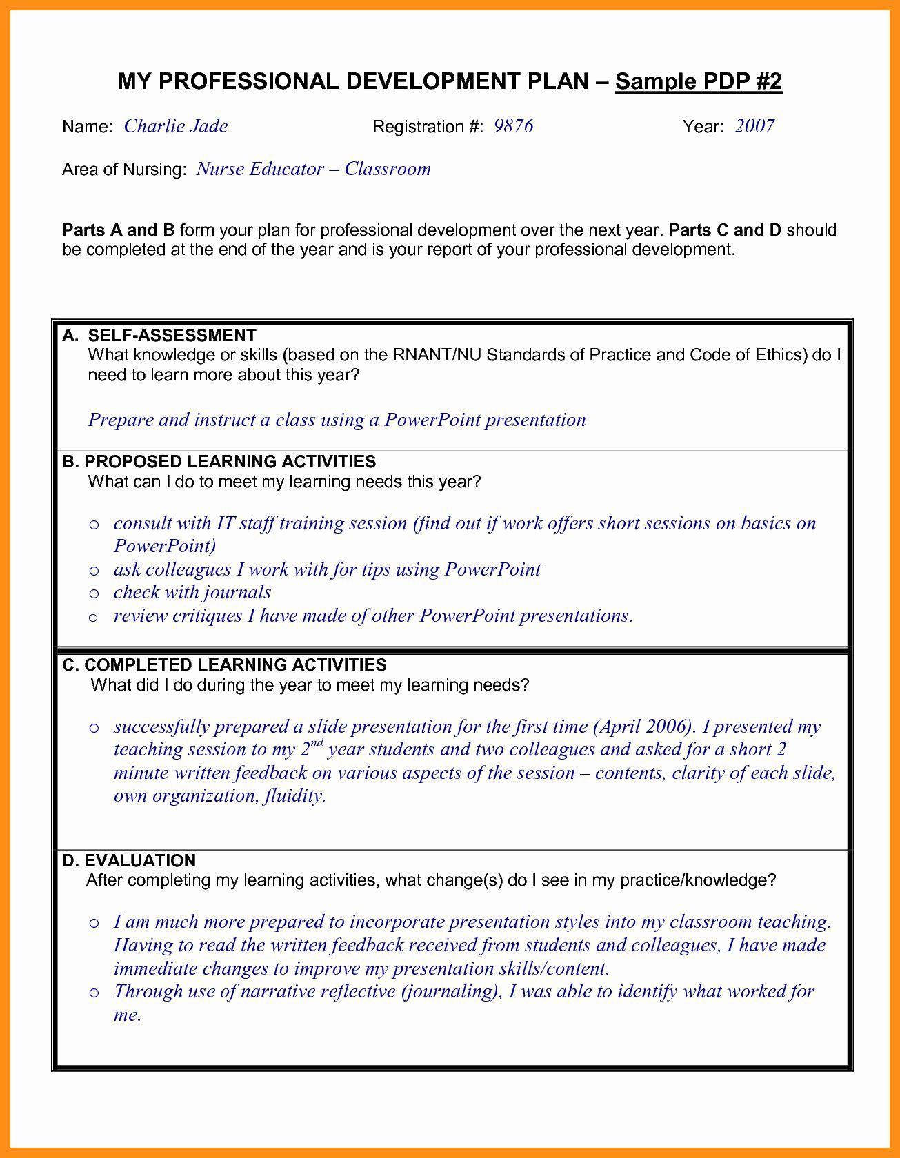 000 Exceptional Professional Development Plan For Teacher Template Doc High Resolution Full