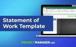 000 Exceptional Project Scope Of Work Template Word Example