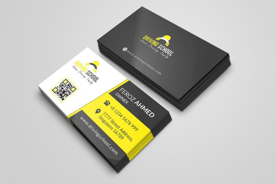 000 Exceptional Psd Busines Card Template Picture  Computer Free With Bleed960