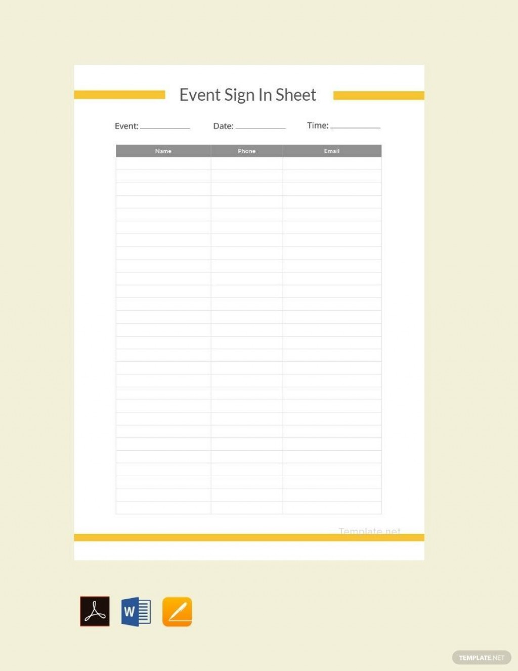 000 Exceptional Sign In Sheet Template Excel Download Image Large