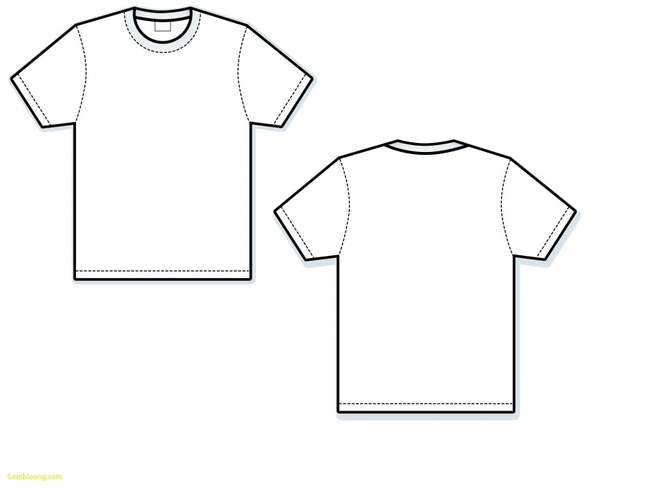 000 Exceptional T Shirt Template Vector Sample  Illustrator Design Free Download Ai960