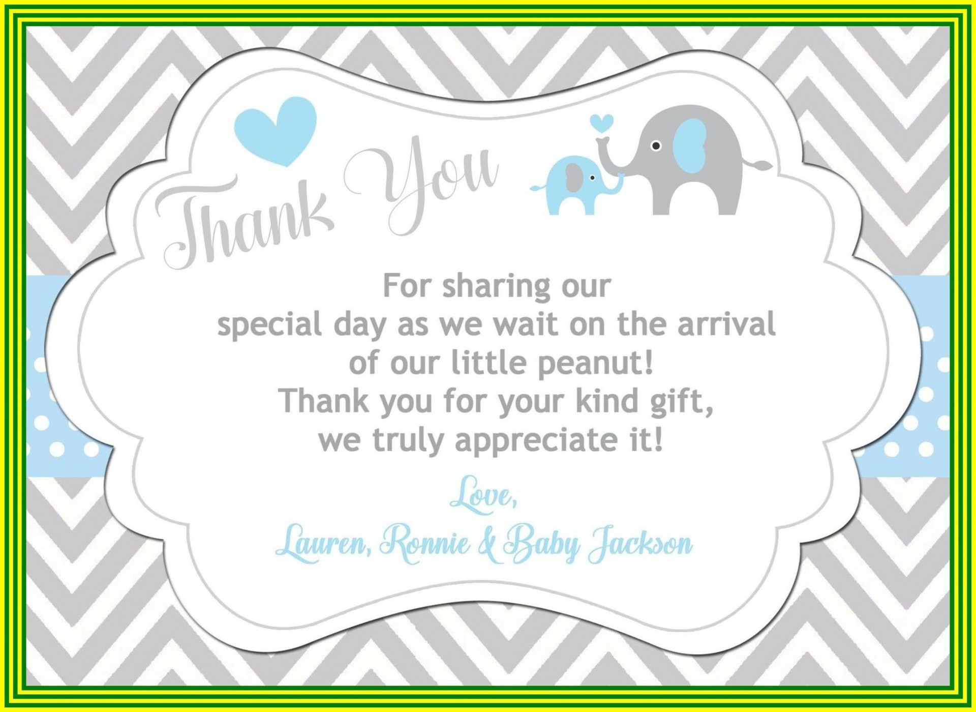 000 Exceptional Thank You Card Wording Baby Shower Gift Concept  For Multiple Group1920
