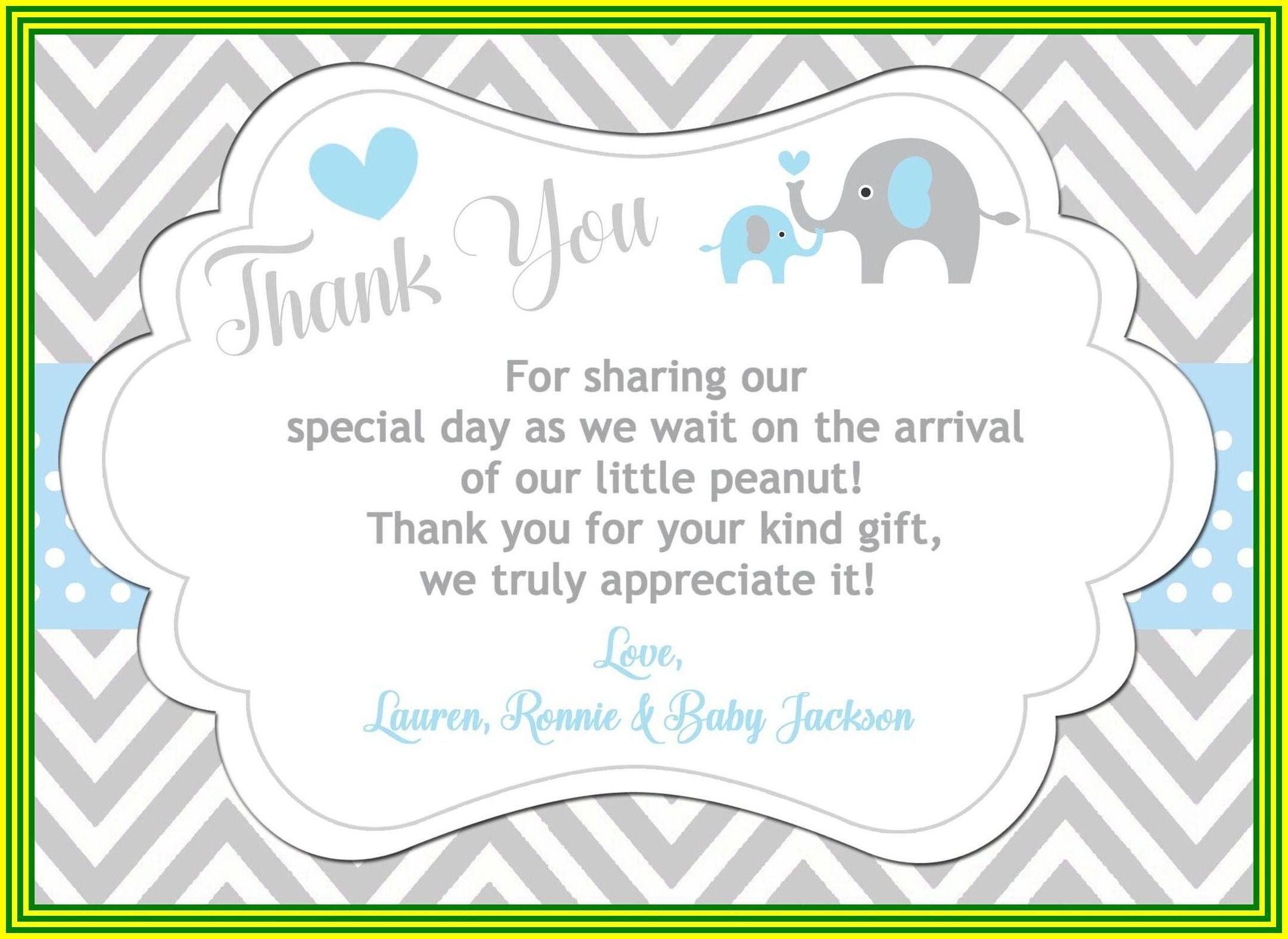 000 Exceptional Thank You Card Wording Baby Shower Gift Concept  For Multiple GroupFull