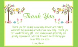 000 Exceptional Thank You Note Wording Baby Shower Picture  For Hosting Card