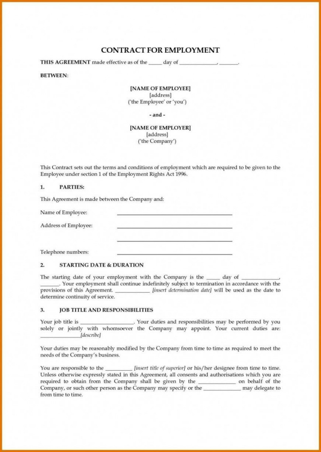 000 Fantastic Australian Employment Contract Template Free Picture Large