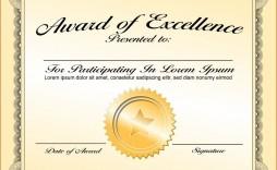 000 Fantastic Certificate Of Award Template Word Free Sample