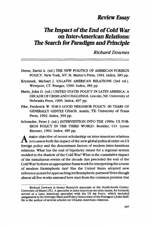 000 Fantastic Cold War Essay Inspiration  Title Thesi1920