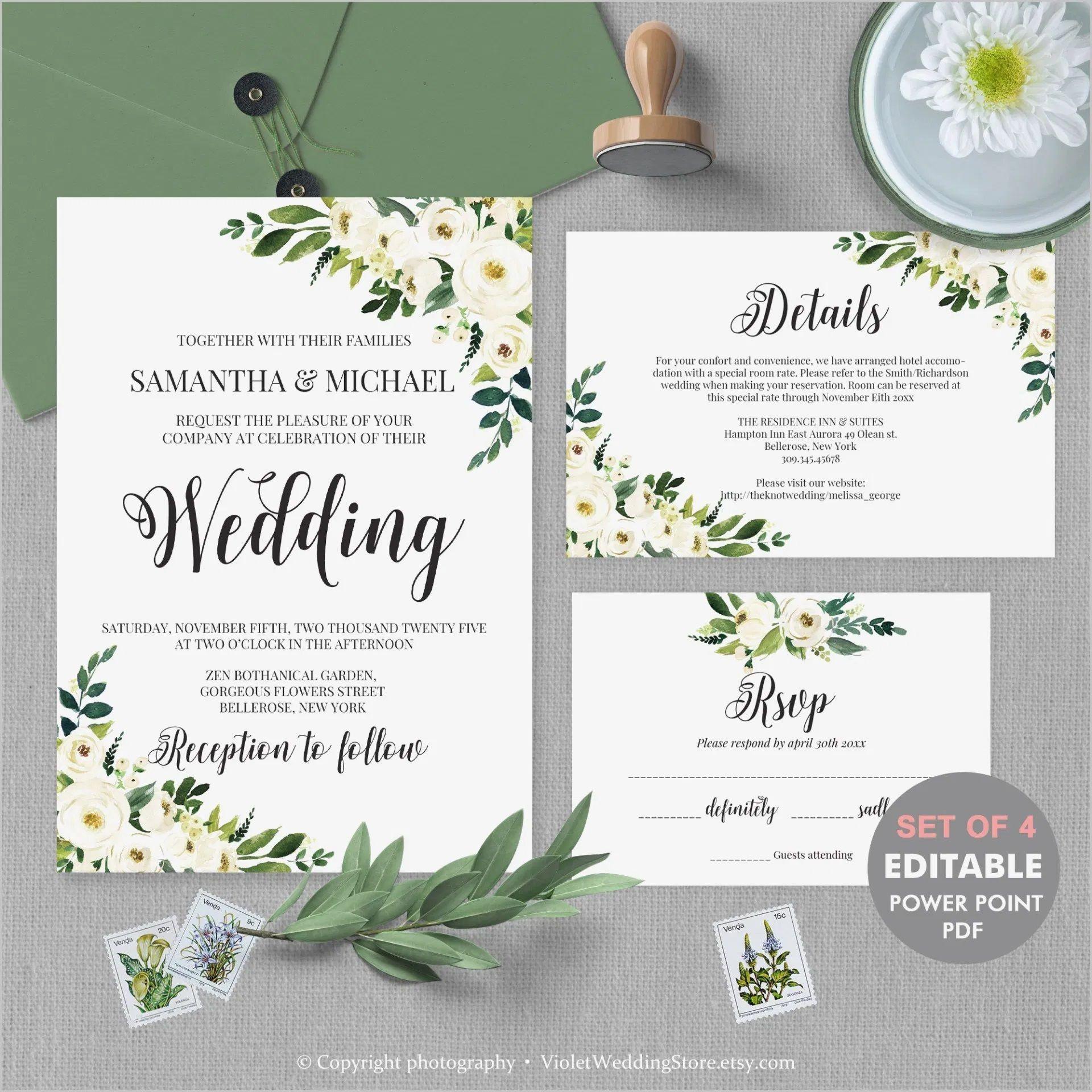 Editable Wedding Invitation Templates Addictionary