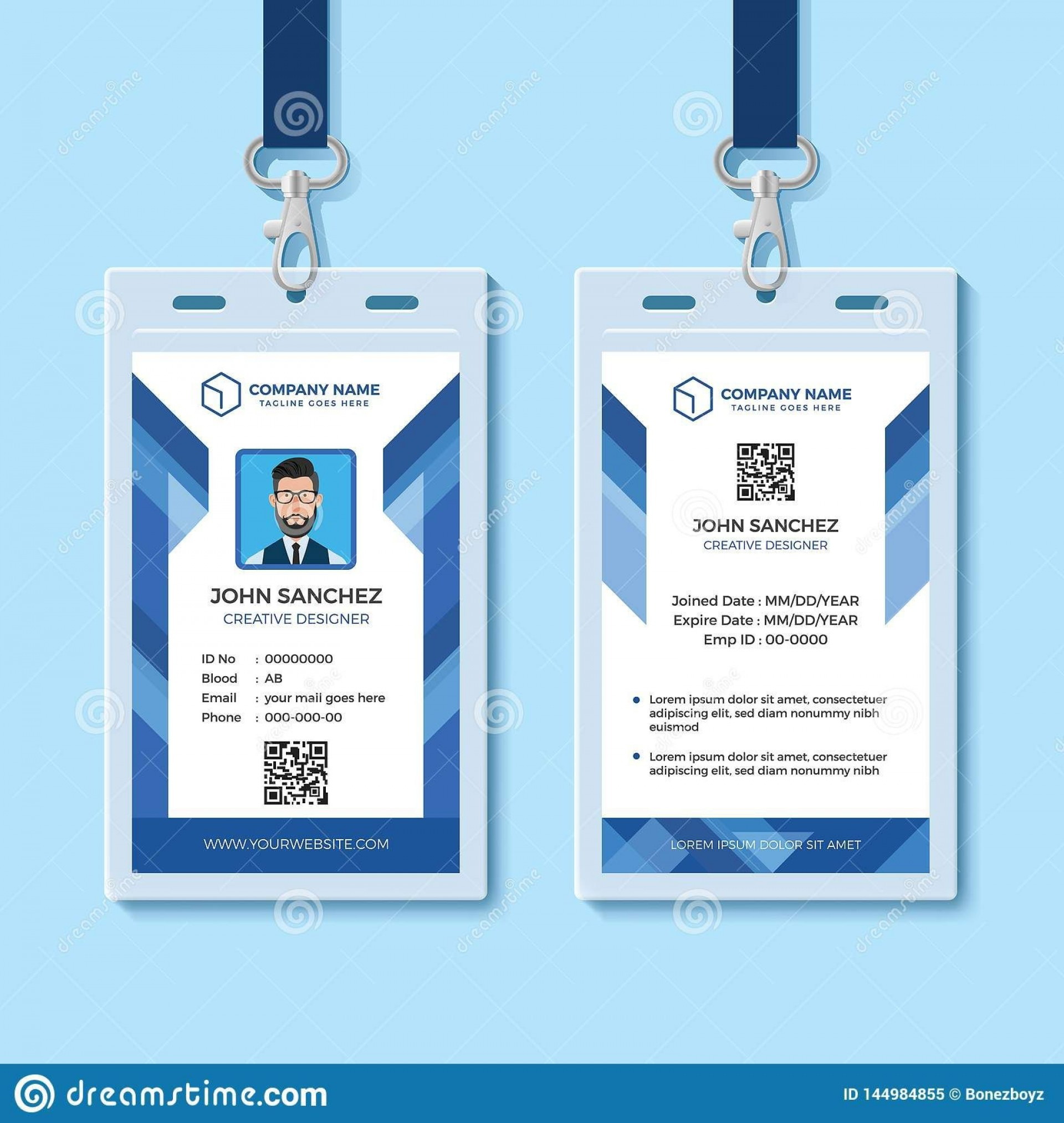 000 Fantastic Employee Id Badge Template Photo  Avery Card Free Download Word1920