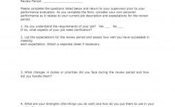 000 Fantastic Employee Self Evaluation Form Template Sample  Printable Free Word