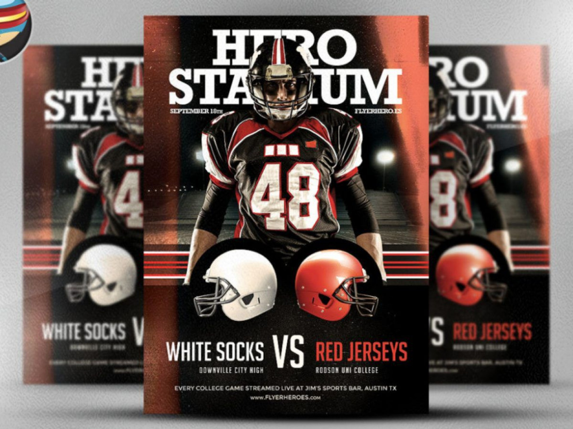 000 Fantastic Football Flyer Template Free High Resolution  Download Flag Party1920