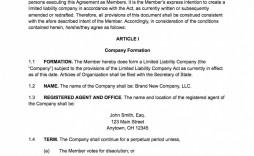 000 Fantastic Free Operating Agreement Template Design  Pdf Missouri Llc