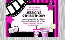 000 Fantastic Free Printable Movie Ticket Birthday Party Invitation Inspiration  Invitations