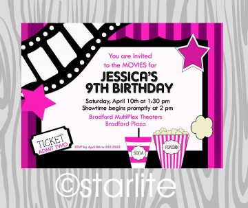 000 Fantastic Free Printable Movie Ticket Birthday Party Invitation Inspiration 360