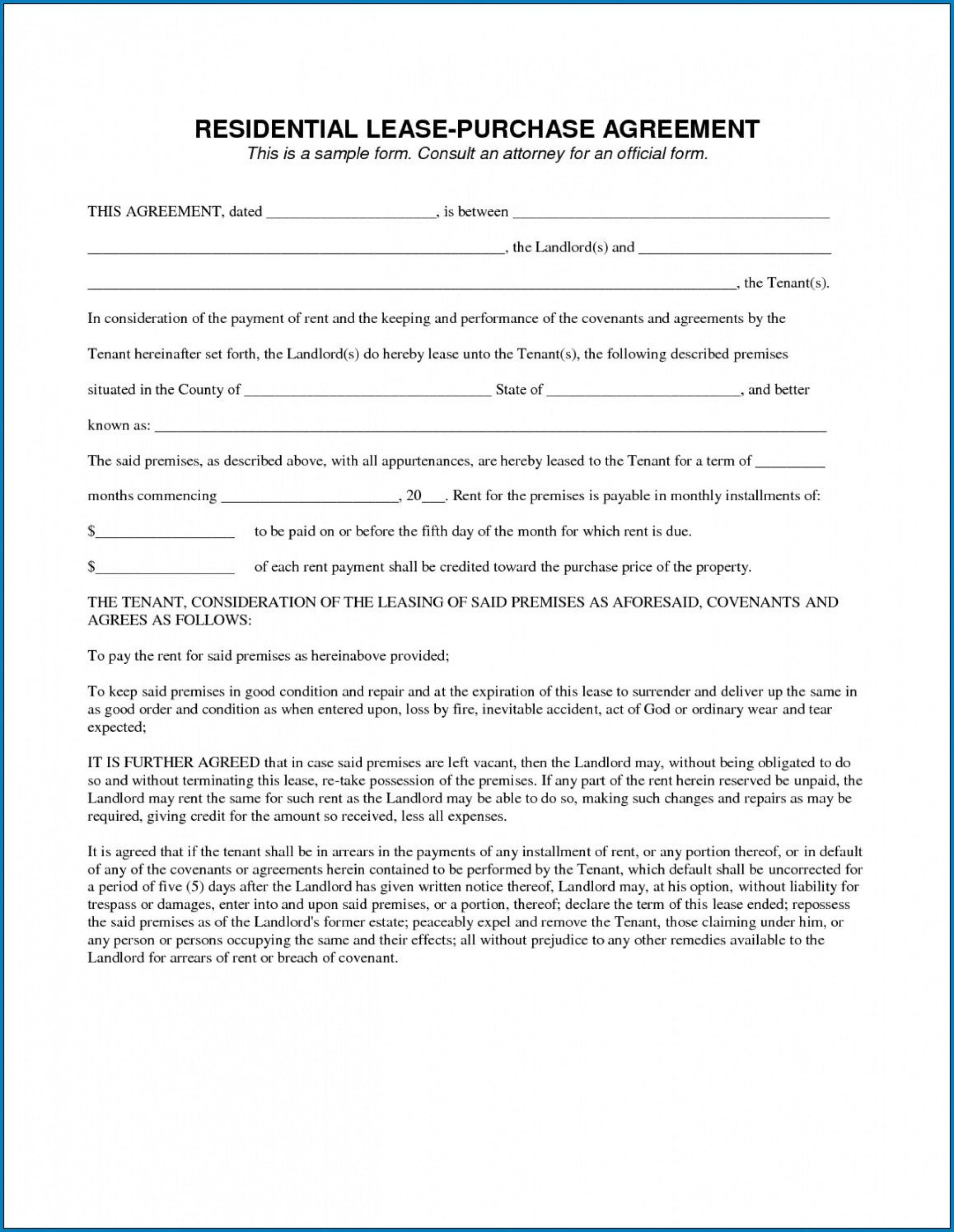 000 Fantastic Free Rent To Own Contract Form For House High Definition  Houses Pdf1920
