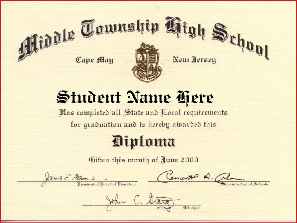 000 Fantastic High School Diploma Template Image  With Seal Homeschool Free Printable BlankLarge