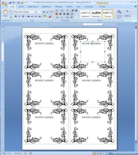 000 Fantastic Microsoft Word Addres Label Template Free Photo  Cd Dvd Christma480