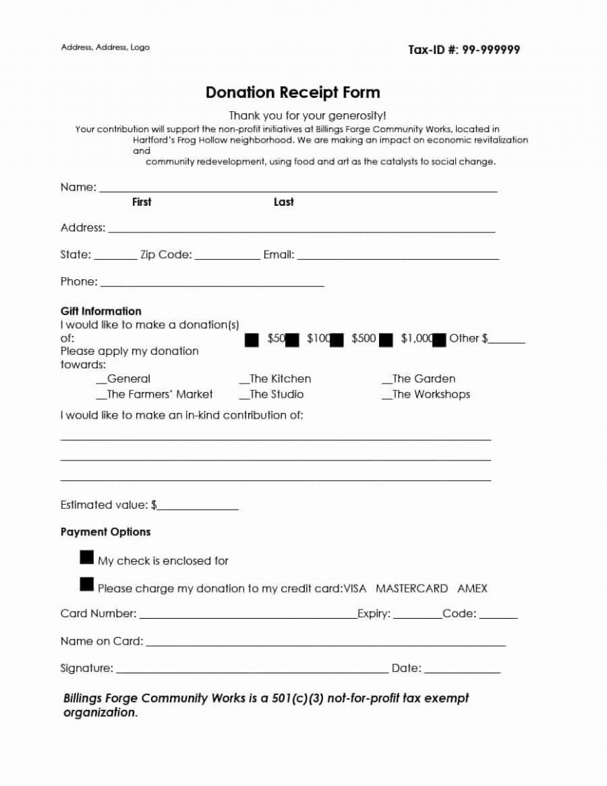 000 Fantastic Tax Donation Receipt Template Example  Deductible Form For Purpose