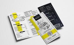 000 Fantastic Tri Fold Menu Template Free Highest Quality  Wedding Tri-fold Restaurant Food Psd Brochure Cafe Download