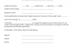 000 Fascinating Credit Card Template Word Concept  Authorization Hotel Form Slip
