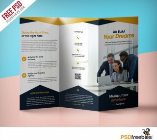 000 Fascinating Free Brochure Template Psd File Front And Back Inspiration 320