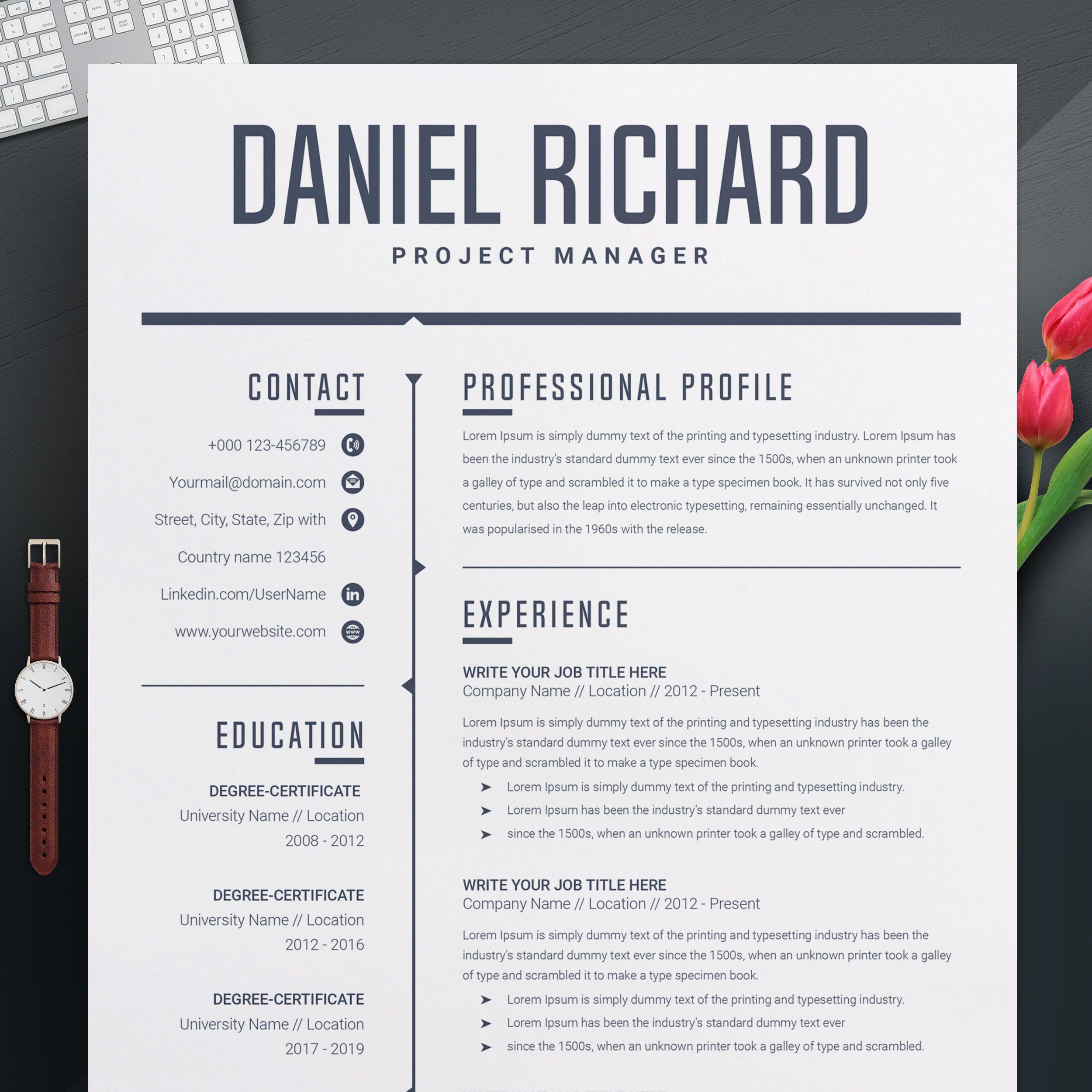 Modern Resume Template Download Word لم يسبق له مثيل الصور Tier3 Xyz