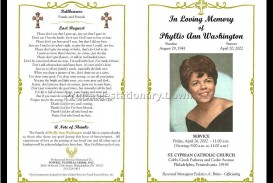 000 Fascinating Funeral Program Template Free High Definition  Printable Design