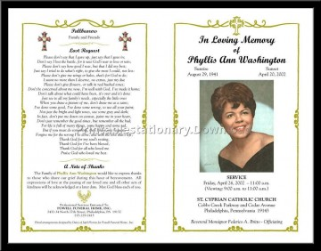 000 Fascinating Funeral Program Template Free High Definition  Printable Design360