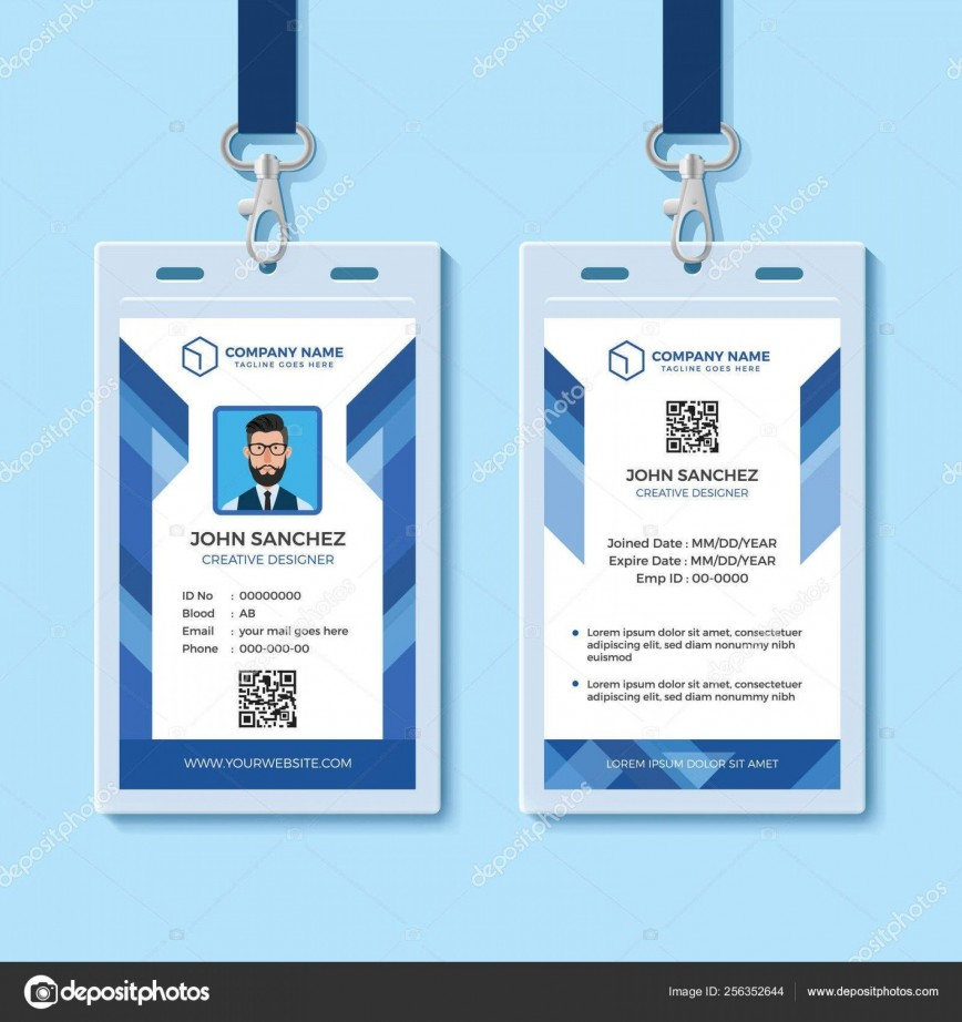 000 Fascinating Id Card Template Word Highest Quality  Software Vertical Free Download School
