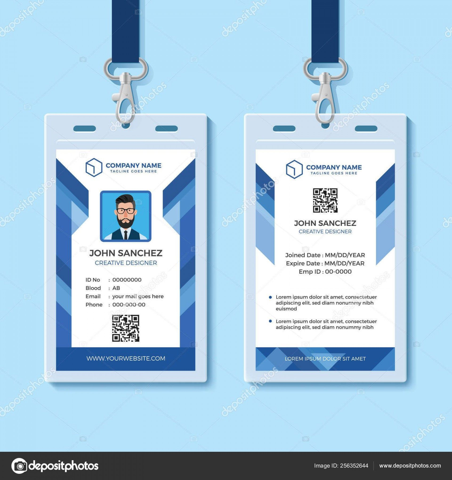 000 Fascinating Id Card Template Word Highest Quality  Microsoft Vertical PrintableFull