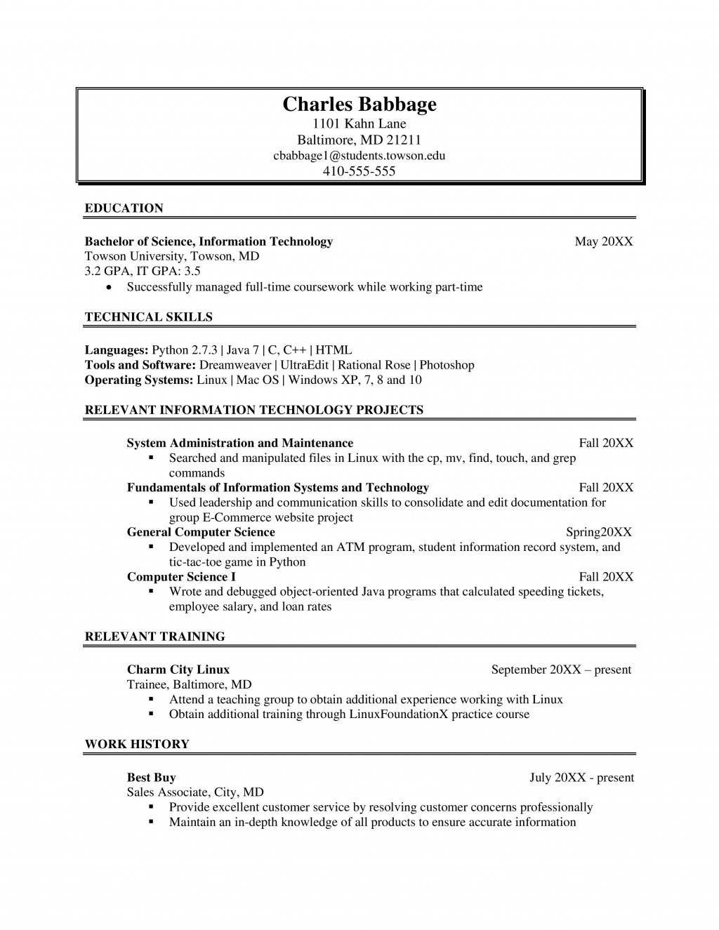 000 Fascinating Information Technology Resume Template Picture  Specialist Free BestLarge