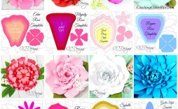 000 Fascinating Large Rose Paper Flower Template Free Photo