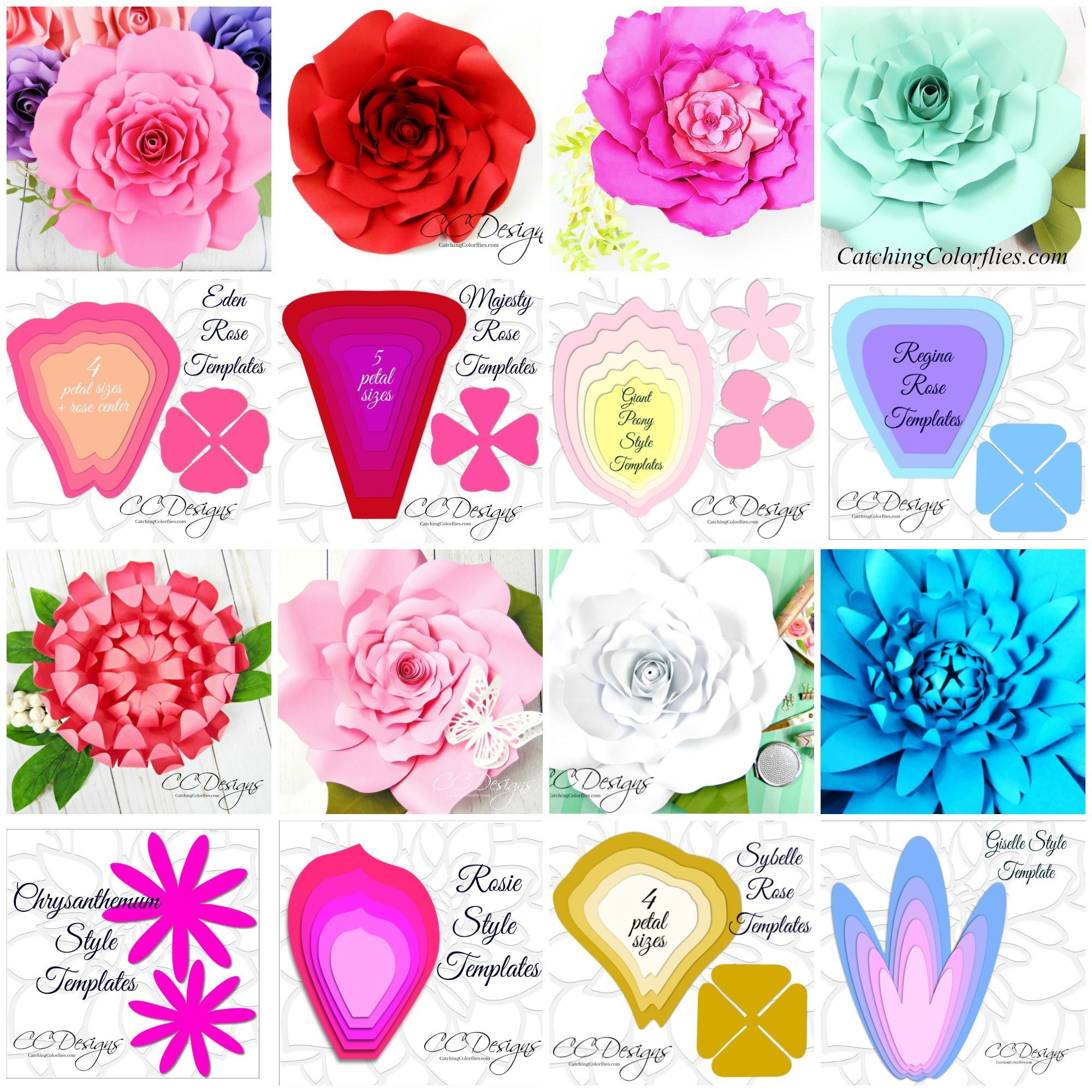 000 Fascinating Large Rose Paper Flower Template Free Photo Full