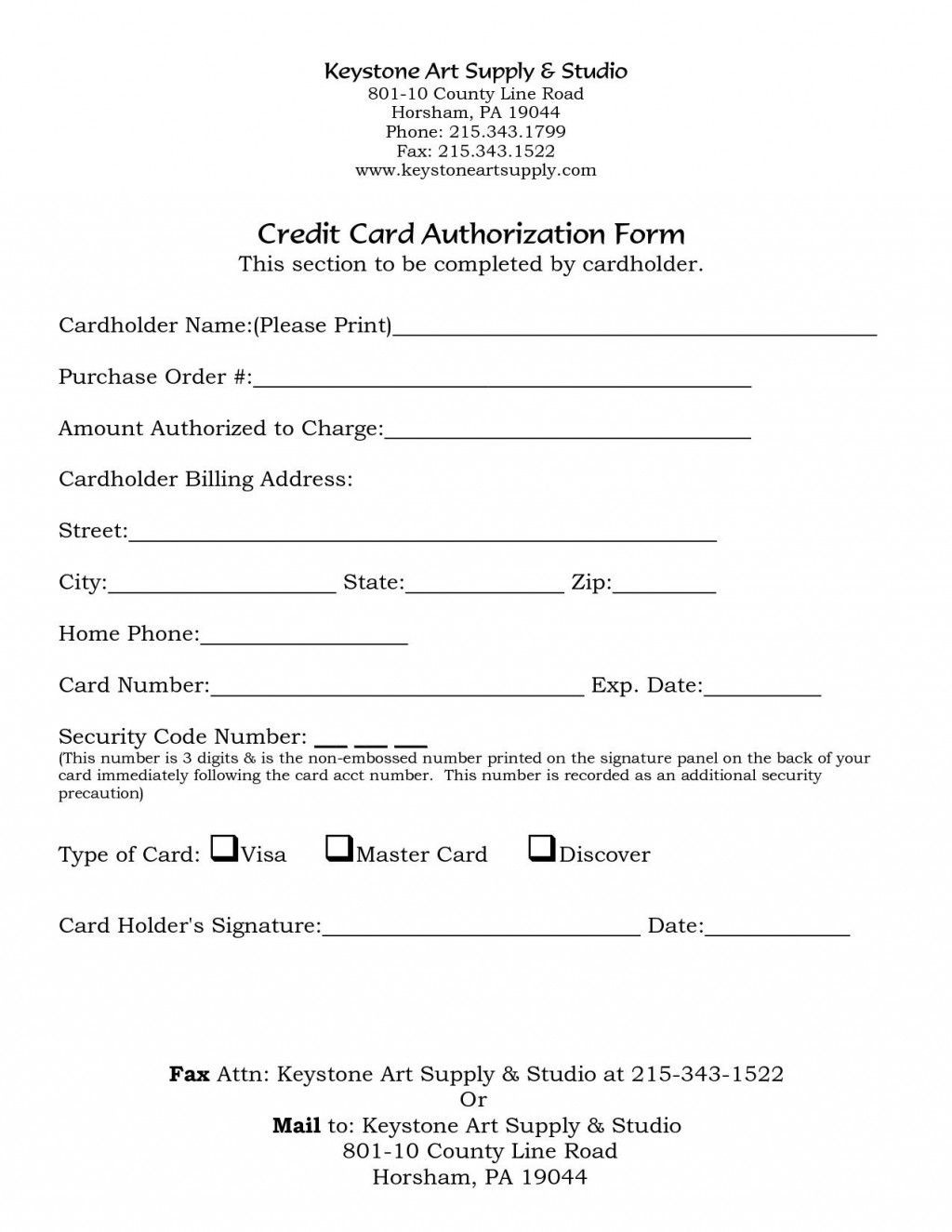 000 Fascinating One Time Credit Card Payment Authorization Form Template High Def Large