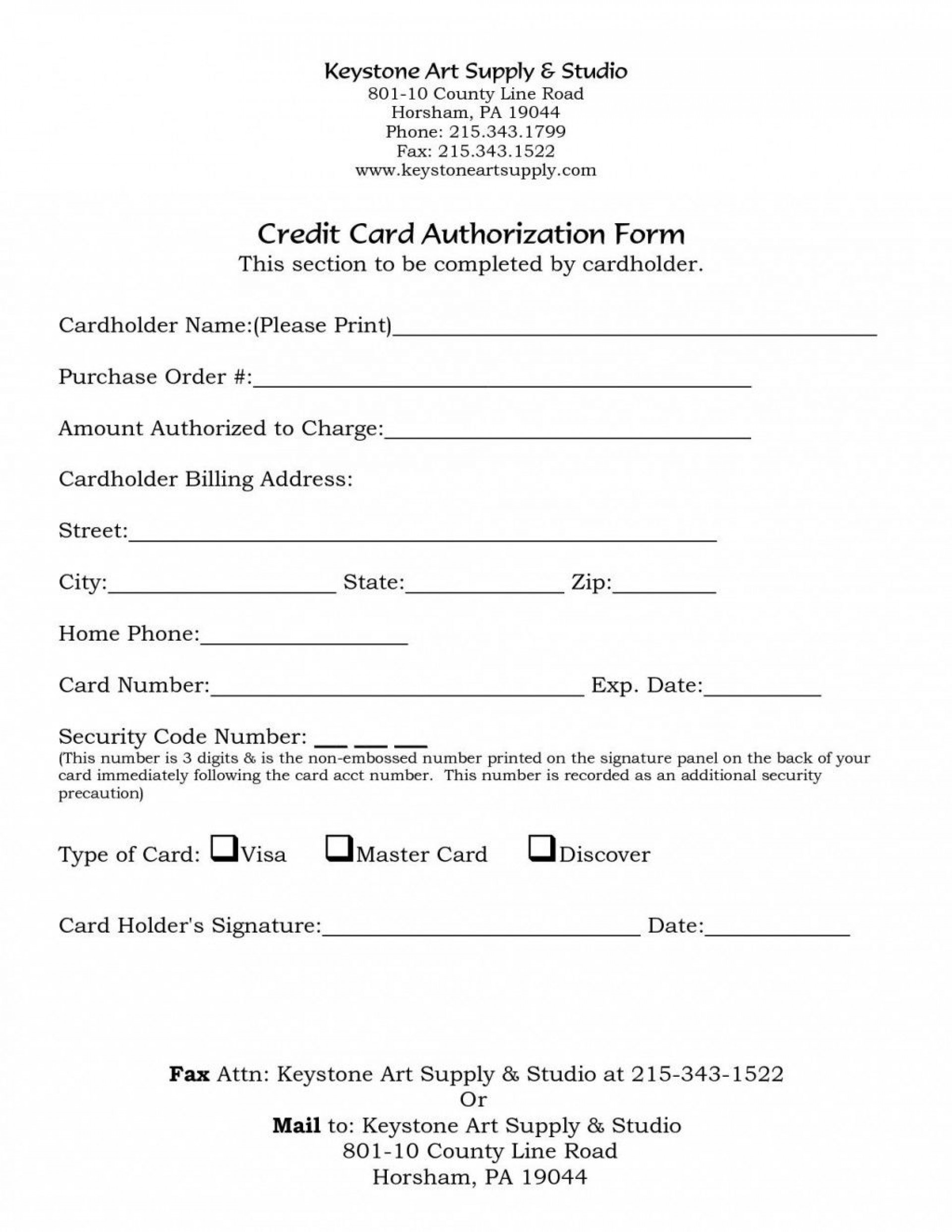 000 Fascinating One Time Credit Card Payment Authorization Form Template High Def 1920