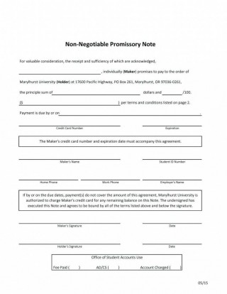 000 Fascinating Promissory Note Template Word Highest Quality  Form Document Free Sample320