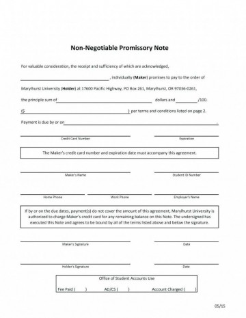 000 Fascinating Promissory Note Template Word Highest Quality  Form Document Free Sample360