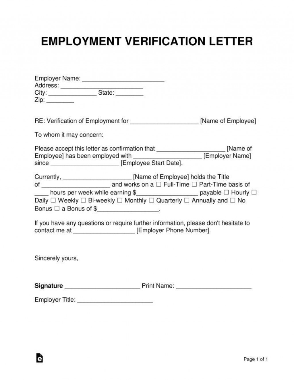 000 Fascinating Proof Of Employment Letter Template Picture  Confirmation Word FreeLarge
