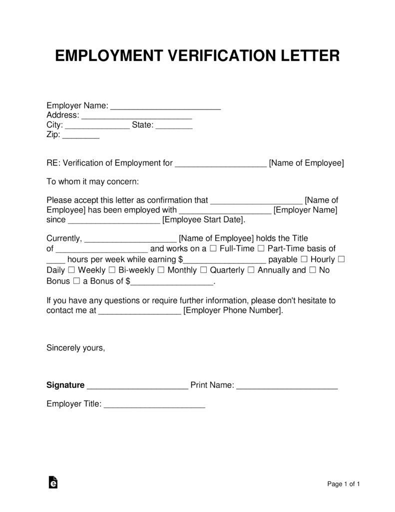 000 Fascinating Proof Of Employment Letter Template Picture  Confirmation Word FreeFull