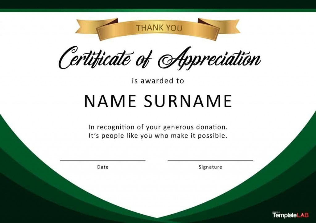 000 Fascinating Recognition Certificate Template Free Example  Employee Award Of Download WordLarge