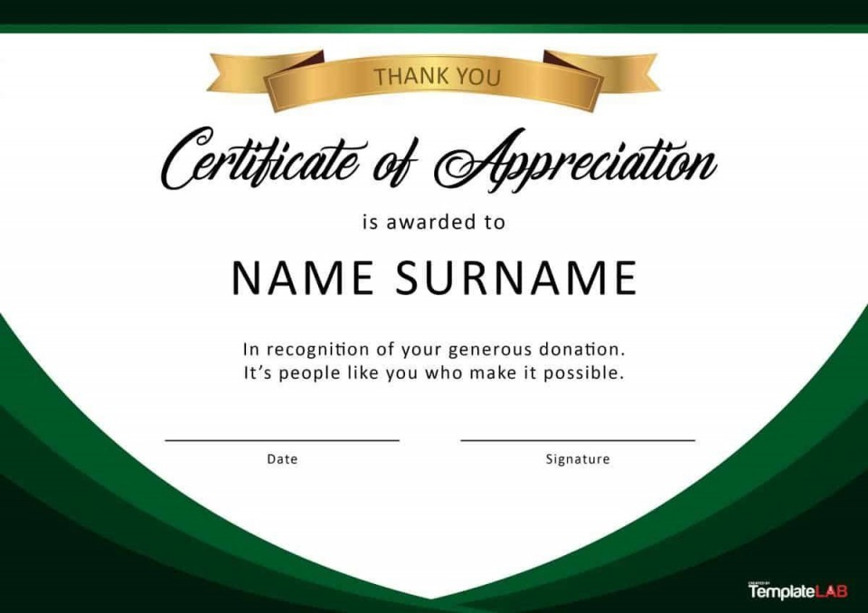 000 Fascinating Recognition Certificate Template Free Example  Employee Award Of Download Word960