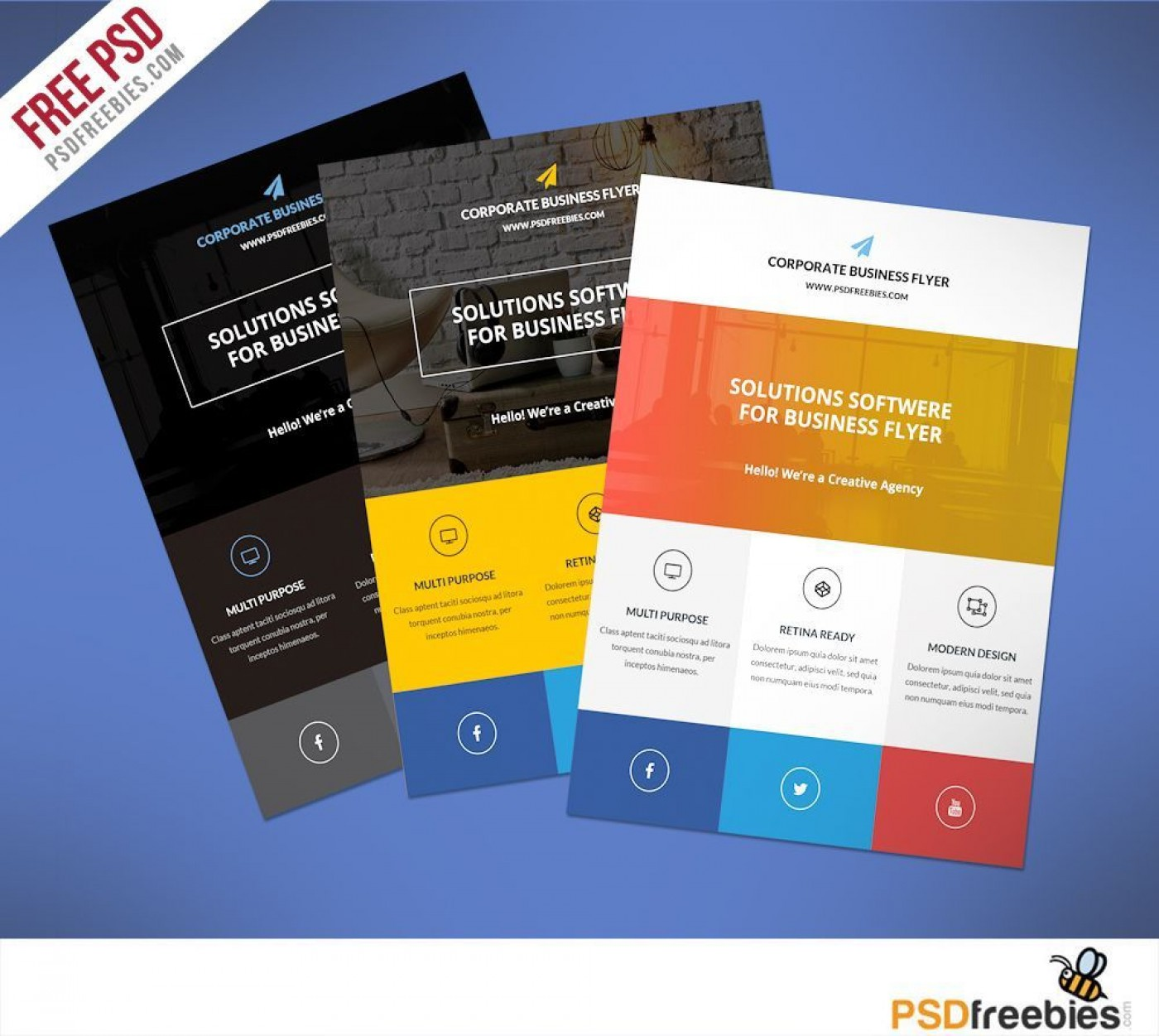 000 Fearsome Busines Flyer Template Free Download Design  Photoshop Training1400