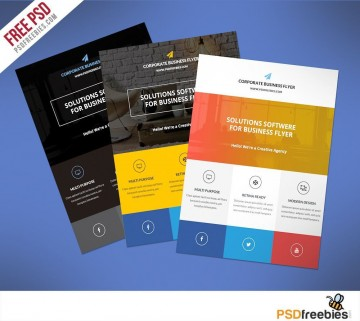 000 Fearsome Busines Flyer Template Free Download Design  Photoshop Training360