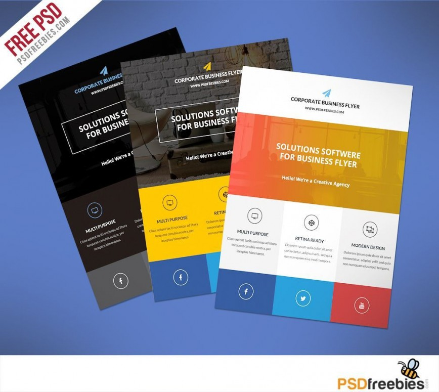 000 Fearsome Busines Flyer Template Free Download Design  Photoshop Training868