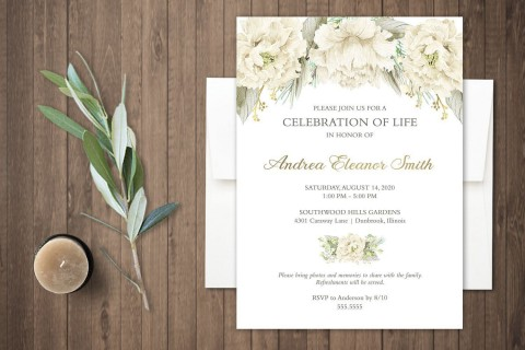 000 Fearsome Celebration Of Life Invitation Template Free High Resolution 480