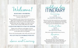 000 Fearsome Destination Wedding Welcome Letter Template Photo  And Itinerary